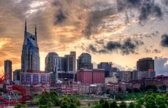 Nashville, TN. This picture captures our capital city in an eerie light. Kind of looks Gotham-like and not just because we have a Batman building. By Malcom MacGregor