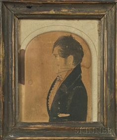 Miniature Portrait, watercolor and ink on paper, c. 1825