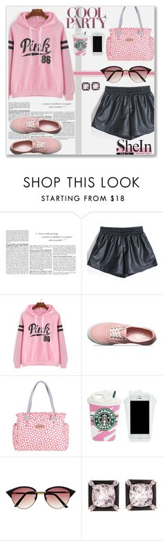 """""""Black PU Leather Shorts with SheIn"""" by sherri40 ❤ liked on Polyvore featuring BCBGMAXAZRIA, Vans, Brakeburn, Seaman Schepps, women's clothing, women, female, woman, misses and juniors"""