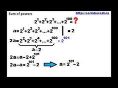 Suma puterilor numerelor naturale - YouTube Math Equations, Youtube, Youtube Movies
