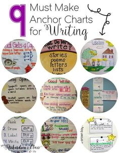 9 Must Make Anchor Charts for Writing for Kindergarten and First Grade