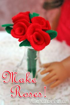 Make a bouquet of roses