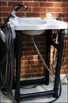 Install a fully functional outdoor sink within minutes! Do you need this for your yard?