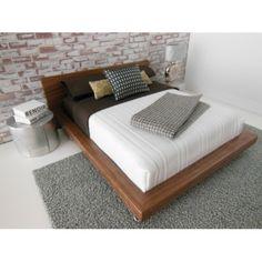 Walnut V Leg Bed