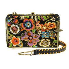 Mary Frances Blossoms Black Handbag Beaded Bag New Handbags On Sale, Black Handbags, Purses And Handbags, Leather Handbags, Beaded Purses, Beaded Bags, Fashion Bags, Fashion Accessories, Mary Frances Handbags