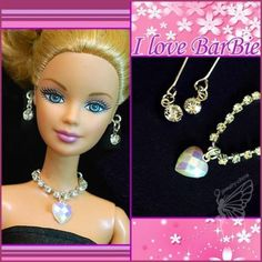 Handmade Barbie Doll Jewelry Set Necklace Earrings for Barbie Dolls for sale online Barbie Dolls For Sale, Barbie And Ken, Diy Barbie Clothes, Doll Clothes, Barbie Stuff, How To Make Purses, Barbie Accessories, Doll Shoes, Diy Doll