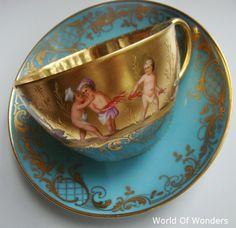 Austrian Teacup and Saucer