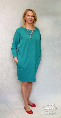 418c154167 Akademia Rękodzieła BOCIAN  Sukienka z dzianiny dresowej