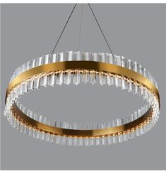 Sofrey Gold Bronze K9 Crystal Chandelier Crystal Ceiling Light, Crystal Wall, Glass Pendant Light, Glass Pendants, Pendant Lighting, Ceiling Lights, Ring Chandelier, Stair Lighting, Iron Ring