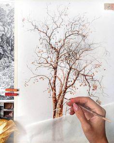 "3,389 Likes, 10 Comments - Watercolor illustrations (@watercolor.illustrations) on Instagram: "" Watercolorist: @evgenyasheglova #waterblog #акварель #aquarelle #painting #drawing #art #artist…"""