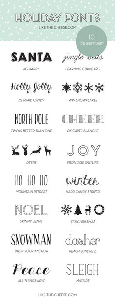 16 Free and Fabulous Holiday Fonts (Perfect for those Christmas Cards) Holiday Fonts, Cricut Fonts, Typography Fonts, Cursive Fonts, Christmas Typography Hand Lettering, Free Handwriting Fonts, Bullet Journal Fonts Hand Lettering, Handwriting Analysis, Penmanship