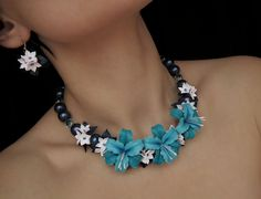 #polymer_clay #flowers_necklace #flowers_earrings