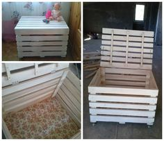 My easy box for toys made from upcycled pallets! #Kids, #PalletBoxes, #Toys