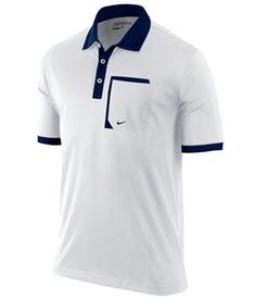 White and Navy Polo Shirt - Nautical Nike Polo Shirts, Golf Shirts, Camisa Polo, Polo Design, Veteran T Shirts, Striped Polo Shirt, Long Sleeve Polo, Golf Outfit, Shirt Style