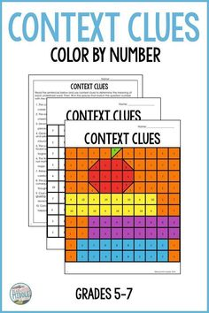 Get your grade, grade, or grade students interested in context clues with this fun color-by-number activity! Students will read and determine the missing words using context clues and then 5th Grade Ela, 5th Grade Reading, Middle School Reading, Sixth Grade, Whole Brain Teaching, Teaching Reading, Teaching Ideas, Teaching Resources, Reading Passages