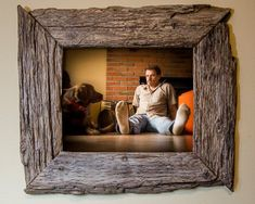 upcycled barn wood | Upcycled 8x10 Barn Wood Picture Frame by SaphariRusticFrames, $59.00