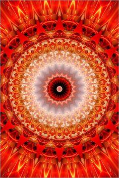 Mandala Energie Poster von Christine Bässler