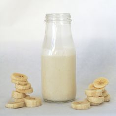 The Perfect After School Snack: Banana Milk - banana, milk, and sugar blended
