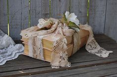 Shabby chic book decor