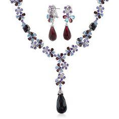 simulated-amethyst-omega-bridal-set_my-bms-90038-az_1_1 Best Deal Bling Jewelry Briolette Bride Set