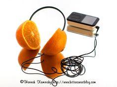 Orange Headphones by BitterSweet - Food and Fashion
