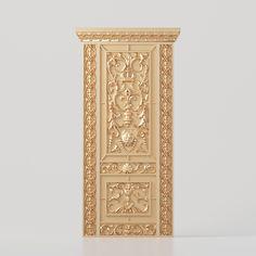 3D model of a carved door for CNC for production on CNC machines 3d Design, Design Model, Cnc Machine, Geometry, Carved Door, Carving, 3d Modeling, Doors, Interior Design