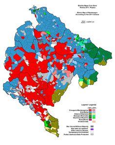 Montenegro #map #infographic