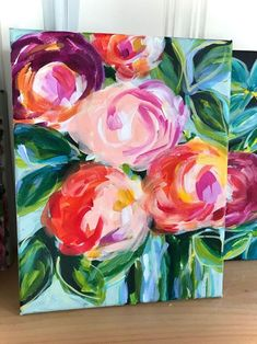 Learn how to paint loose, abstract flowers on canvas with acrylic paint. Artist Elle Byers will teach you her easy method for painting flowers on canvas. She walks you through her painting process step by step! Her tutorials are beginner friendly! Easy Flower Painting, Acrylic Painting Flowers, Acrylic Painting For Beginners, Simple Acrylic Paintings, Acrylic Painting Tutorials, Abstract Flowers, Acrylic Painting Canvas, Paint Flowers, Beginner Painting On Canvas