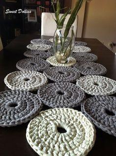 Camino De Mesa De Trapillo A Crochet