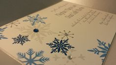 Winter Snowflake Handmade Wedding Invitation- Sample #bellalunacreative on Etsy