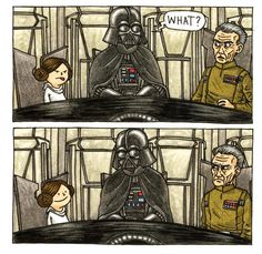 Jeffrey Brown wrote and drew these adorable books Darth Vader and Son and Vader's Little Princess that show what it would be like if Darth Vader was actually a good dad! ♥ Here's a few of our favorite illustrations from the books. Star Wars Fan Art, Star Wars Meme, Star Wars Comics, Star Trek, Little Princess, Princess Room, Princess Star, Luke Skywalker, Darth Vader And Son