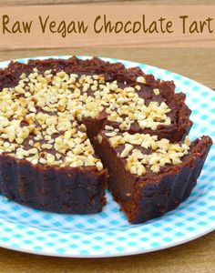 This Raw Vegan Chocolate Tart is truly decadent! it gets better at every bite, even more when you think you are eating something healthy!