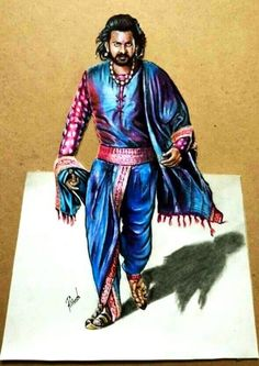 Bahubali 2 - Drawing Prabhas - 3D drawing of Prabhas   Realistic drawing Prabhas   Drawing Devasena - Anushka Shetty   Incredible scene of Bahubali 2 Pencil Art Drawings, Realistic Drawings, Colorful Drawings, Bahubali Movie, Bahubali 2, Prabhas And Anushka, Game Wallpaper Iphone, Indian Art Paintings, Drawing Reference