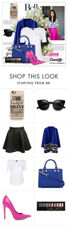 """Contest"" by ayannap ❤ liked on Polyvore featuring Gucci, Casetify, Pilot, Topshop, MICHAEL Michael Kors, Forever 21, New Growth Designs, women's clothing, women and female"
