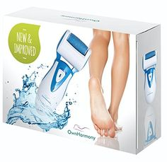 Electric Callus Remover & Rechargeable Pedicure Tools CR900 by Own Harmony w/ 3 Rollers Reg. & Extra Coarse (Tested Most Powerful) Best Foot File Professional Spa Electronic Micro Pedi Feet Care