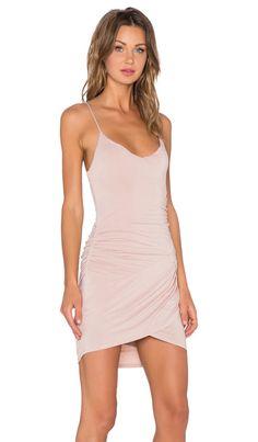 krisa Gather Cami Dress in Nude | REVOLVE
