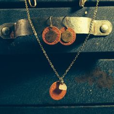 Quartz and copper Opa's. #rustbeltamericana #rust #belt #americana #vintage #junkyard #jewelry #opa #ration #quartz.