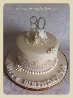 80th Birthday Cake In Shades Of Apricot By Homemade Hollie