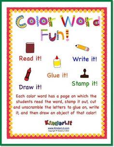Color Word Fun!
