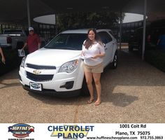 The experience of purchasing my 2014 Chevy Equinox with Mark Ferguson was great. I appreciate the customer service that Huffines Chevrolet Plano provided, and am excited about the new vehicle!  Sarah Gonzalez Saturday, September 20, 2014
