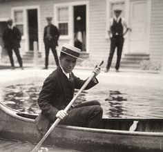 Discovering Chaplin: Canoeing in the studio swimming pool