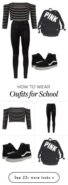 """""""for school:))"""" by miskolci-andrea on Polyvore featuring 7 For All Mankind, Vans and Victoria's Secret"""