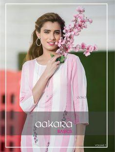 204d526f2e Aakara Basics Vol-7 Rayon Designer Kurti (8 Pc Set)