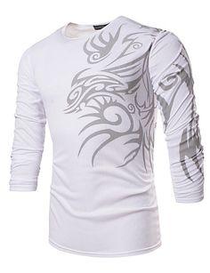 2037c2165e Homens Tamanhos Grandes Camiseta - Esportes Trabalho Boho Estampado Delgado  Promoções Online