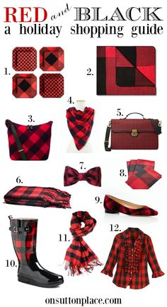 Red and Black Buffalo Plaid | A Holiday Shopping Guide from On Sutton Place | Easy links to all these items included!