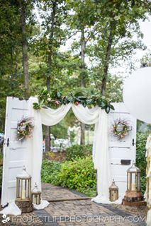 Could be done with Up the Creeks Farms ceremony doors - wedding venue - Central Florida