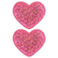 Pink Heart Sequins Iron-Ons