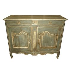 Late 18th Century Louis XV Style French Buffet in Painted Wood