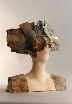 Made by ImagoArtDesign Pottery Sculpture, Sculpture Clay, Ceramic Sculptures, Tamara Lempicka, Sculpture Techniques, Modern Ceramics, Art Object, Ceramic Art, Arts And Crafts