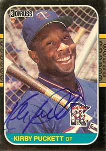 Kirby Puckett, Donruss (1987)...I have this card times 4!  My all-time favorite baseball player!